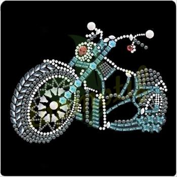 Schönes Auto Hotfix Strass Vorlagen Motorrad Diamante Transfers ...