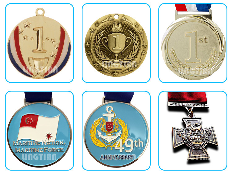 Wholesale Blank Insert Medals ,Metal Blank Sports Medal With Colorful Ribbon