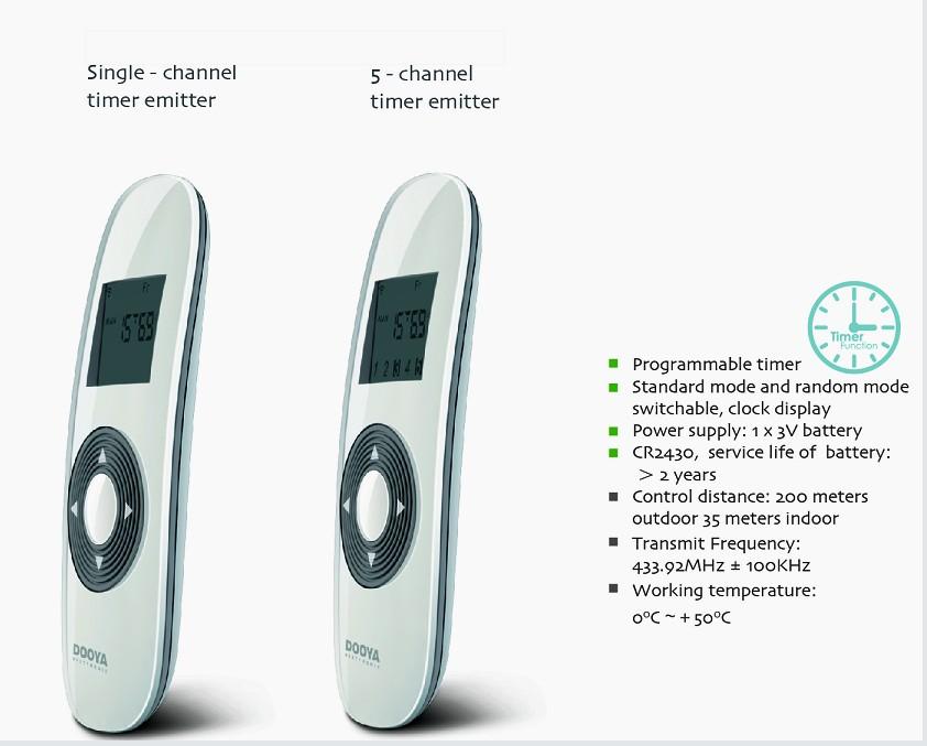 Motorized Roller Blinds Remote Control For Smart Home