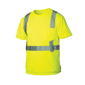 Reflective high visibility safety t-shirt Mens safety t shirt