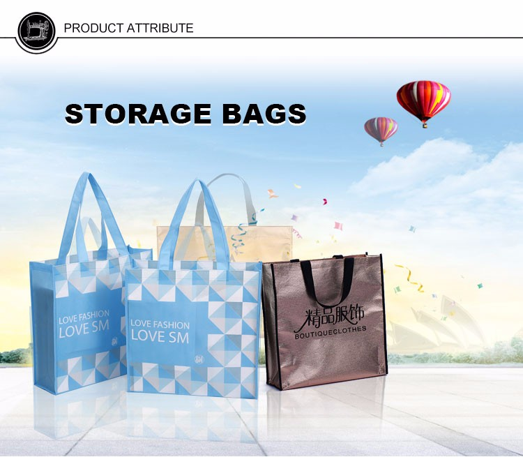 eco waterproof foldable printed shopping bag reusable