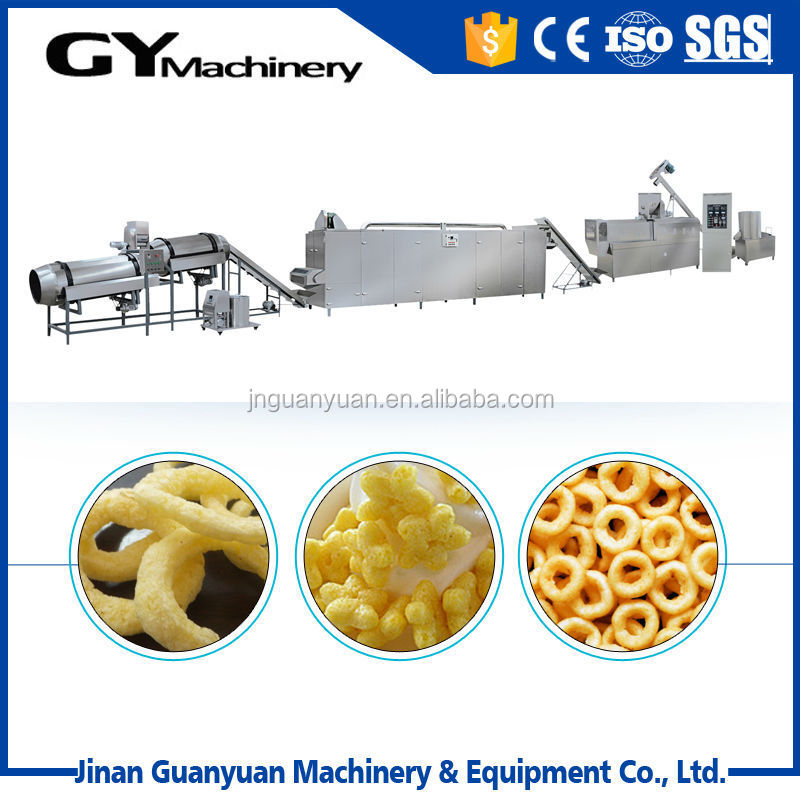 Extrusion Snack Food Corn Puff Making Machine For Plant Price ...