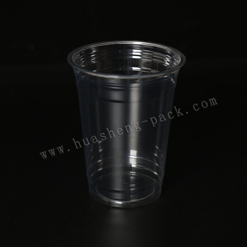 16oz PET material disposable plastic starbucks cup with lid