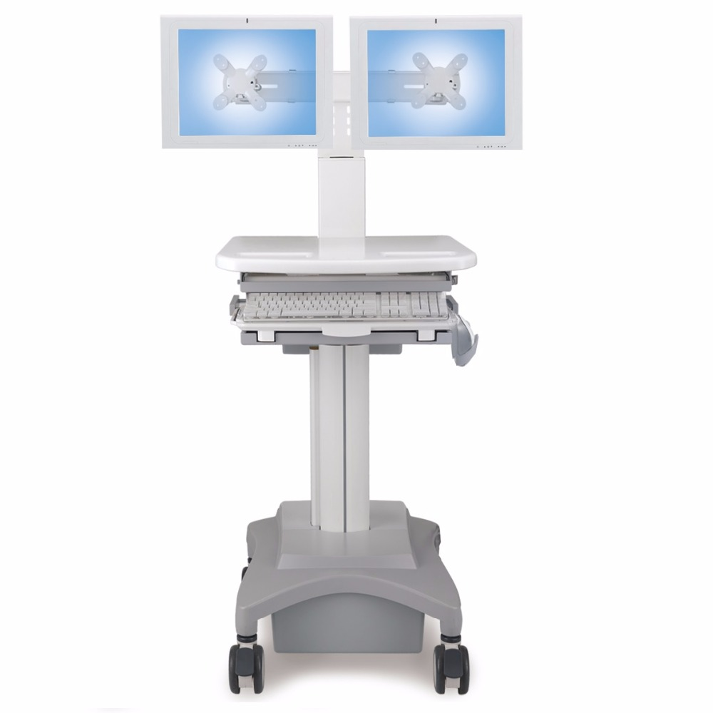 Height Adjustable Hospital Medical Computer Cart