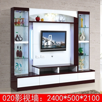 Modern Living Room 55 Inch Lcd Tv Wall Units 020 Glass Tv Unit