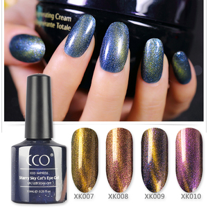 2018 Wholesales starry sky cat eye transparent uv gel for nail art