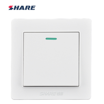 Share White Panel Push Button 1 Gang Multi Way Switch 250v 16a - Buy ...