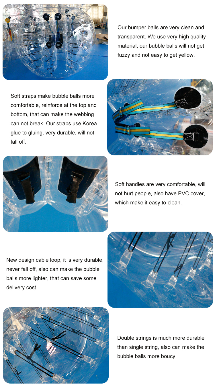 Factory Price TPU Human Inflatable Bumper Bubble  Soccer Foot Ball For Outdoor Sports