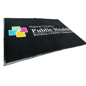 Hot sale custom different logo rubber door mat