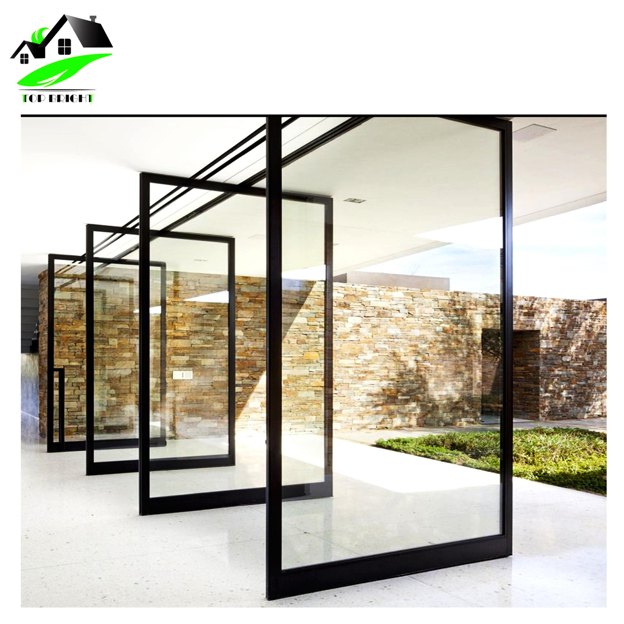 Modern Design Aluminum Pivot Glass Door For Main Entrance Buy