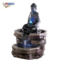 Buddha outdoor water running figurines custom wholesale polyresin fountain
