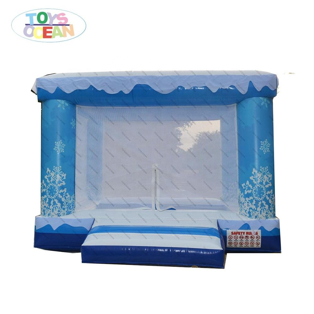 mini indoor snow theme inflatable ocean ball pool pit for kids