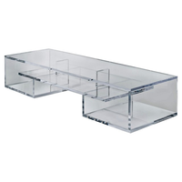 Sleek Modern Clear Acrylic Oversized TV Stand / Coffee Table
