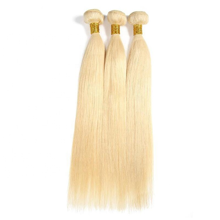 Cuticle Aligend Overnight <strong>Delivery</strong> 613 Silk Straight Human Hair Weft