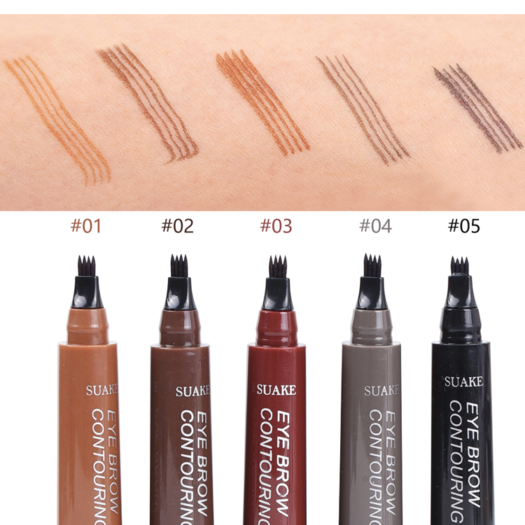 Wholesale cheap customized logo easy remove long lasting water proof eye brow pencil waterproof liquid eyebrow tattoo pencil
