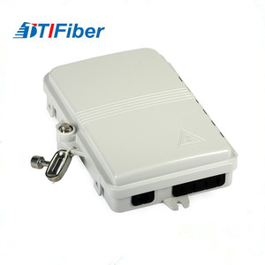 Outdoor FTTH optical fiber terminal distribution box with plug in type PLC splitter