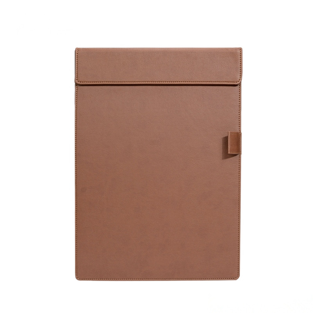 A4 Office School Supplies Notebooks Writing Pads PU Leather Customised Notebook Clipboard