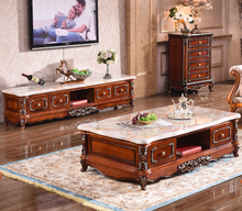 Living room furniture TV cabinet antique Tea table with the marble