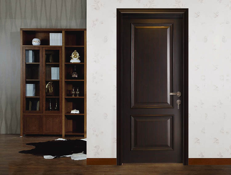 China Simple Design 2 Panel Interior Living Room Wood Doors