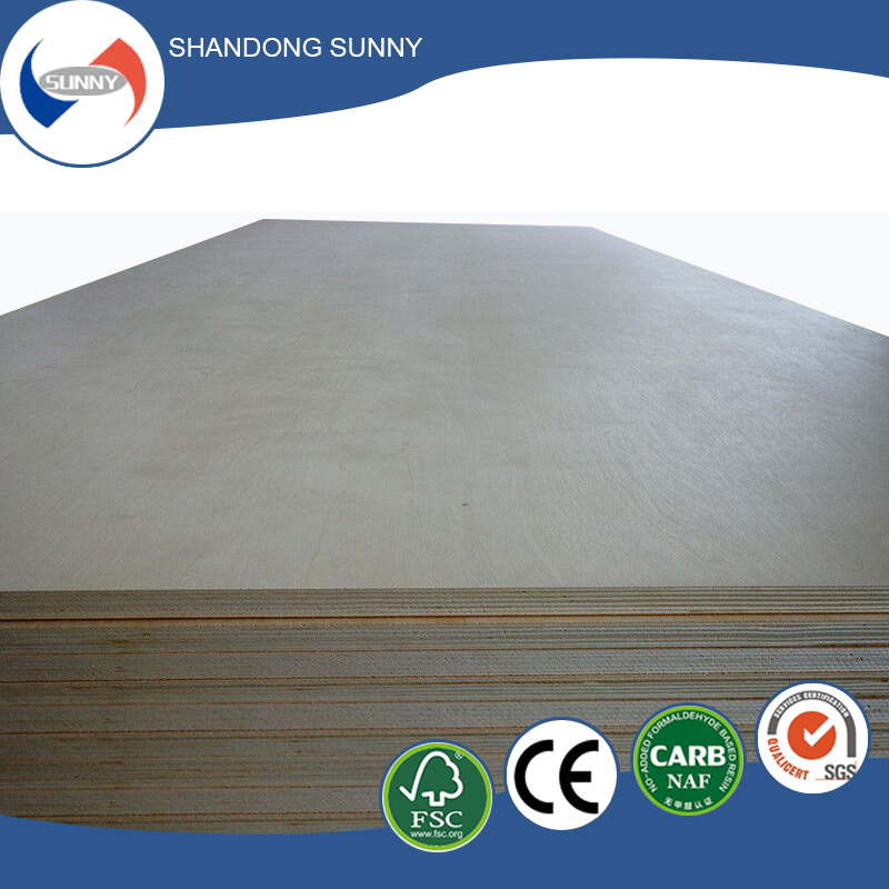 Professional 3mm laminated wood veneer birch plywood for wholesales