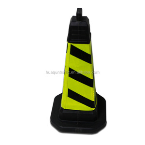 Customized Highway Safety PU/PE/EVA Colored Used Traffic Road Safety Cones