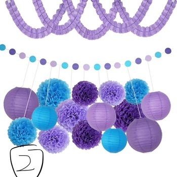 Baby Shower Favors Birthday Party Decorations Set Oh Baby Balloon It's A Girl Banner Paper Pompoms Honeycomb Ball