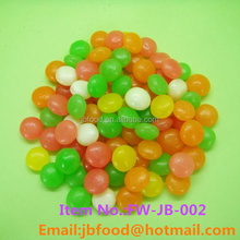 round shape mix fruit flavor jelly bean soft candy in bulk