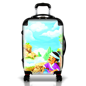 High quality fashionable plastic 360-degree wheel abs trolley case