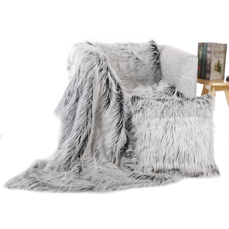 (High) 저 (quality gray 공작새 깃털 모조 faux fur 캐쥬얼 룩에도 pillows 숨 soft real peacock 퍼 pillows