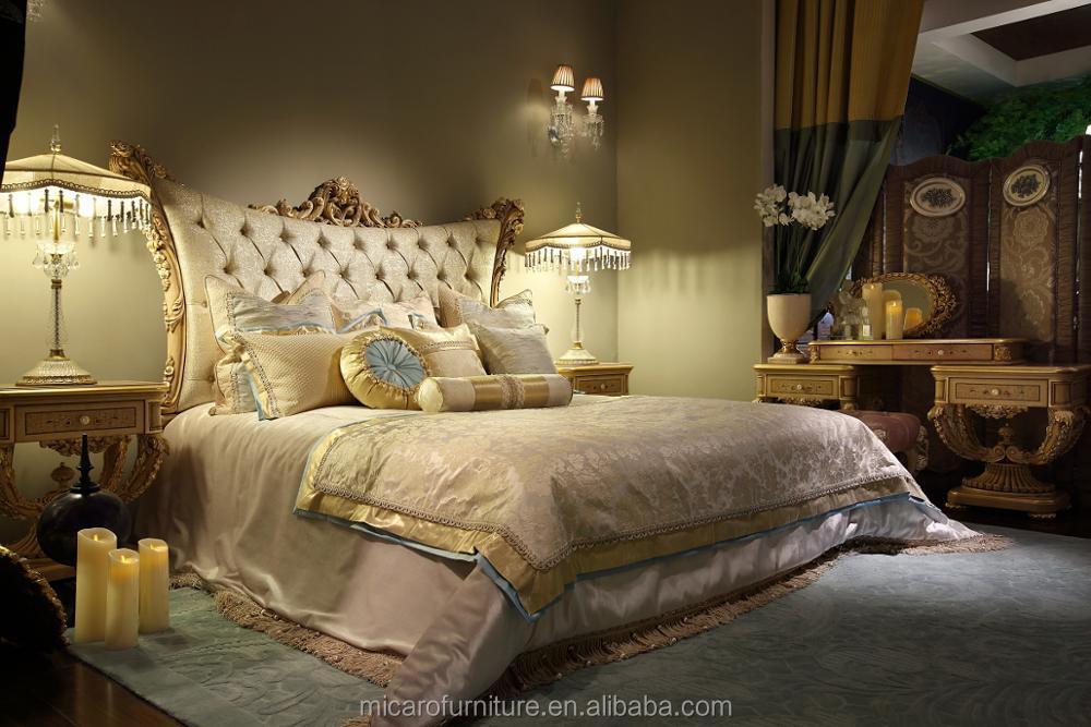 M-llz-lp001b Luxury Furniture Royal Furniture Antique Gold Bedroom ...