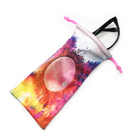 Custom Heat Transfer Printed Microfiber Sunglasses Glasses Pouch Bag With Logo