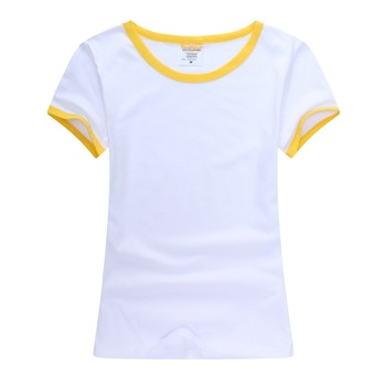 Wholesale Margin Colorful Blank Sublimation White t-shirt in Sale