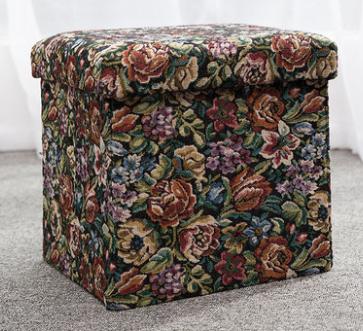 India Like Pouffe Fabric Box Folding Storage Ottoman Stool