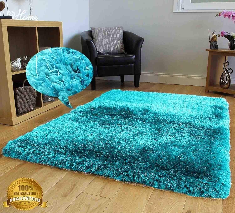 Teal Blue Fluffy Rug Area Rug Ideas