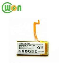 Wholesale Li-polymer Battery 3.7V 550mAh MP3 MP4 Replacement for iPod Video 30GB 616-0299