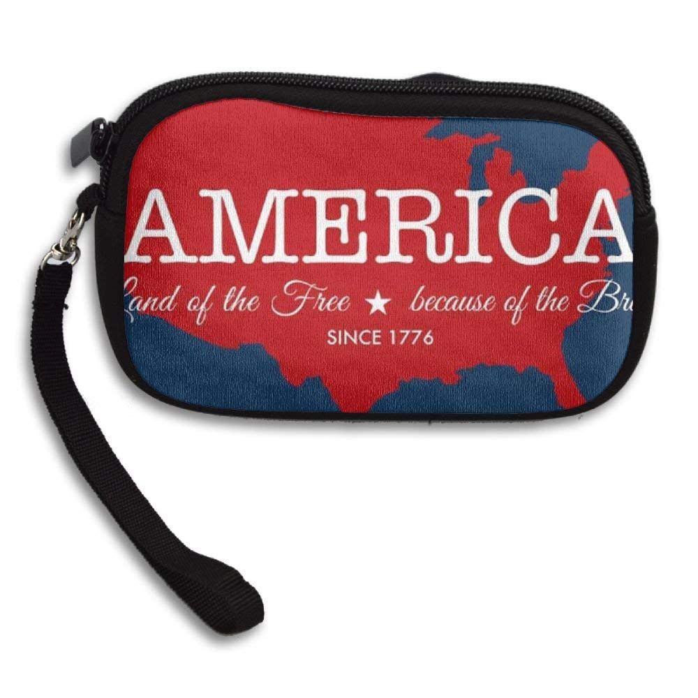 OCKLNT Unisex Clutch Wallet For Woman Ladies -Happy Fourth July Long Purse Bag Men Gentlemen