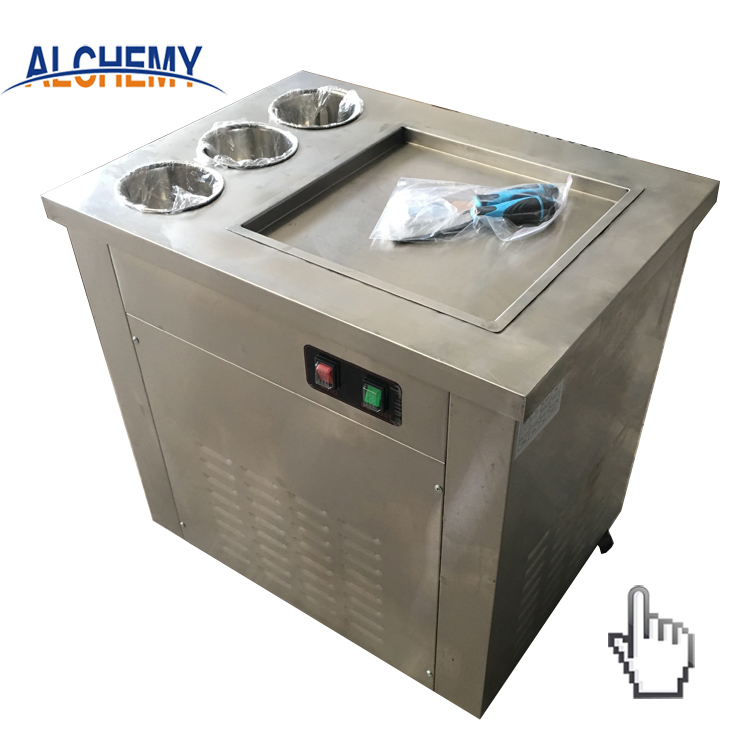 hot sale single flat pan fried ice cream roll machine