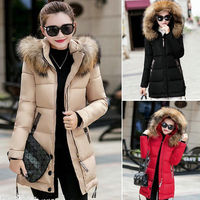 walson 2017 Winter Women's Jacket Long Down Jacket Padded Coat Ladies Slim Hooded Parka