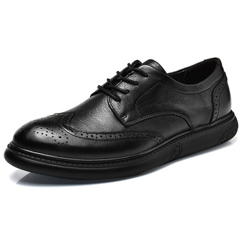 lace up genuine leather upper sport shoes men sneakers casual men oxfords shoes men dress formal  shoes