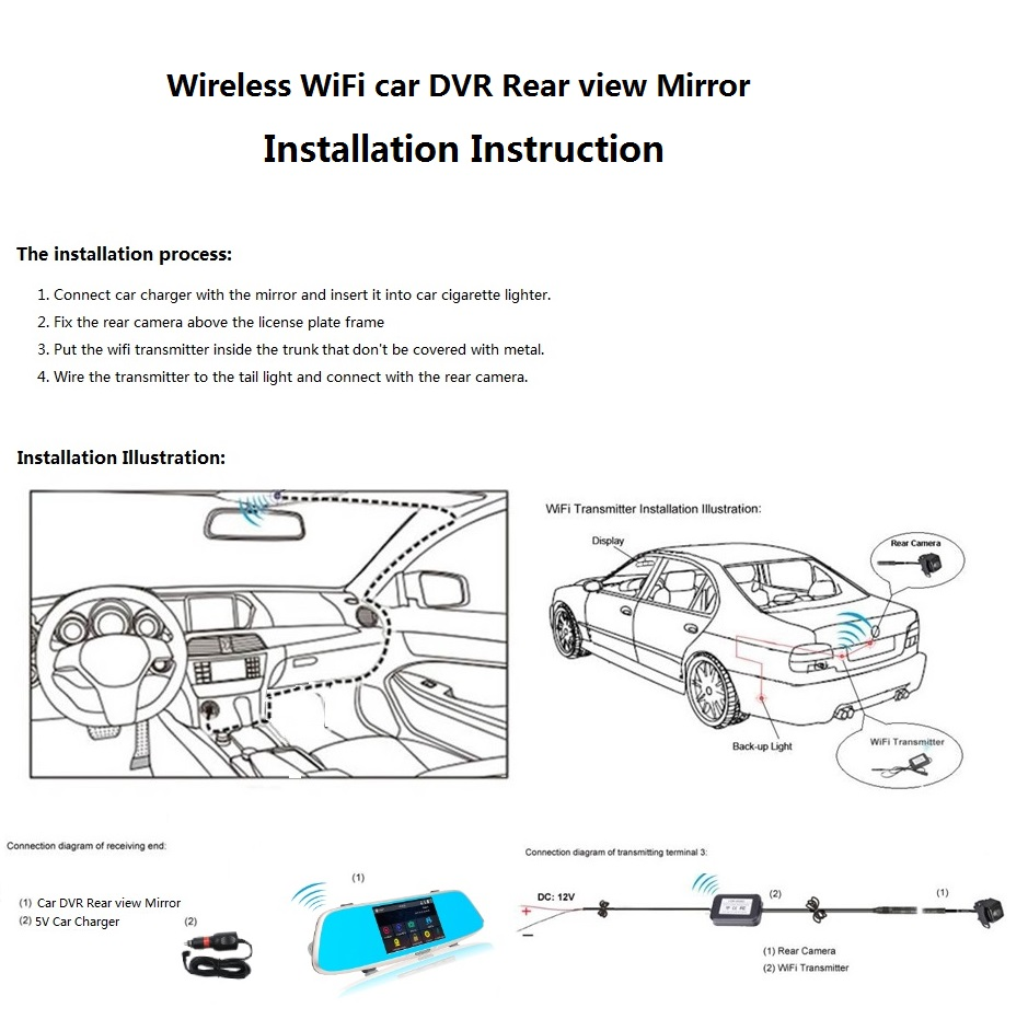 User Manual Fhd 1080p Car Camera Dvr Video Recorder Dual Lens Directv Genie Connection Diagram Also See This Wiring Installation 11