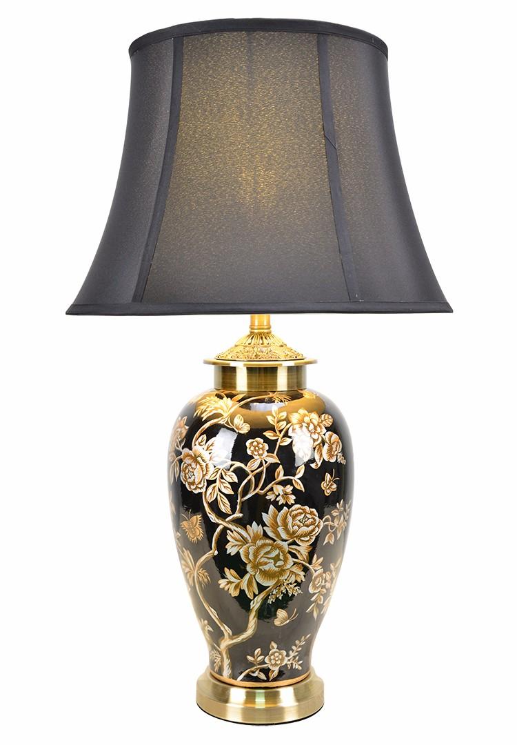 groothandel thuis decoratieve led bureaulamp luxe rode slaapkamer lamp keramische antieke dragon patroon luxe tafellamp voor