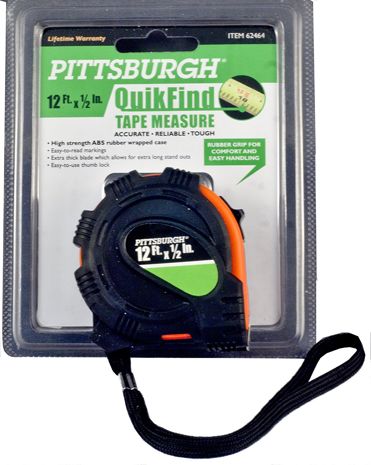 Pittsburgh QuikFind 12 Ft. x ½ In. Tape Measure