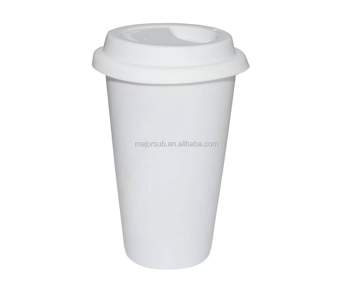 Sublimation Ceramic White Coated Take Away Mug For
