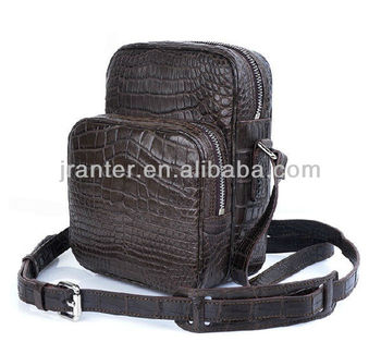 Crocodile Skin Waist Bag Men Waist Bag Men Leather Shoulder Bag
