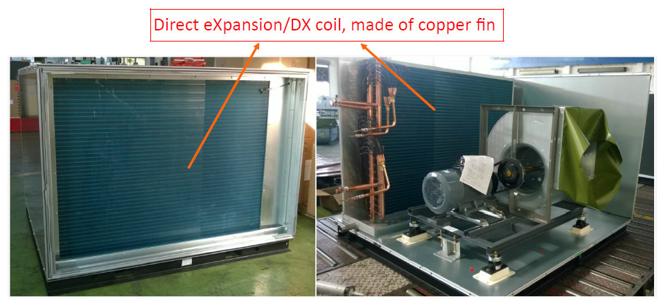 Hvac Central Air Conditioning Units With Dx Cooling Coil 50kw