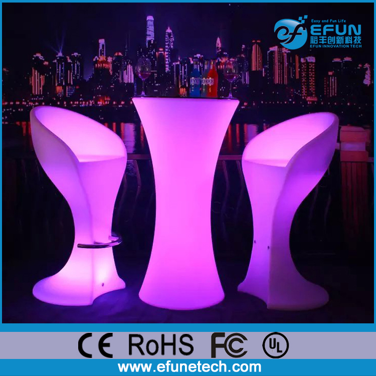 rechargeable remote control rgb color changing spandex table illuminated outdoor event led furniture