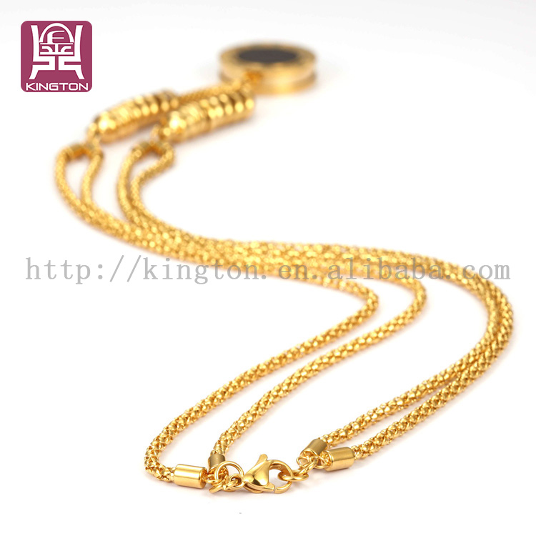 double chain twofaced fake gold jewelry coin necklace, View coin ...