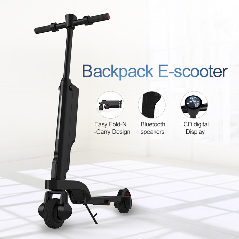 2018 newest mini foldable in bag two wheel smart self balancing electric scooter With Led Light china