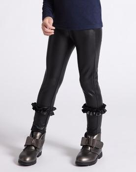 7d81e70f51 Calidad superior de los niños de invierno chicas pu pantalones de cuero