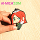 Factory Direct Price Embossed Soft PVC Rubber Custom Make Your Own Anime Keychain
